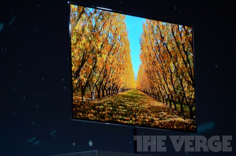 samsung super oled 55 inch tv on sale 39 second half of the year 39 the verge. Black Bedroom Furniture Sets. Home Design Ideas