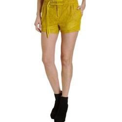 """<a href=""""http://www.barneyswarehouse.com/on/demandware.store/Sites-BNYWS-Site/default/Product-Show?pid=501755999&cgid=womens&index=13""""><b>Helmut Lang</b> Coral Laser Shorts</a>,  $219 (were $540)"""