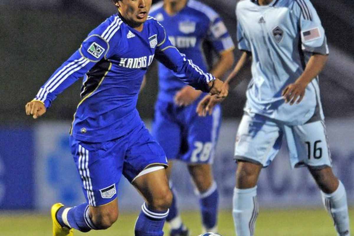 <strong>Sunil Chhetri</strong>'s lone competitive appearance for the Kansas City Wizards (and Sporting Kansas City) came last April (pictured above) against <strong>Colorado Rapids</strong> in the Lamar Hunt US Open Cup.