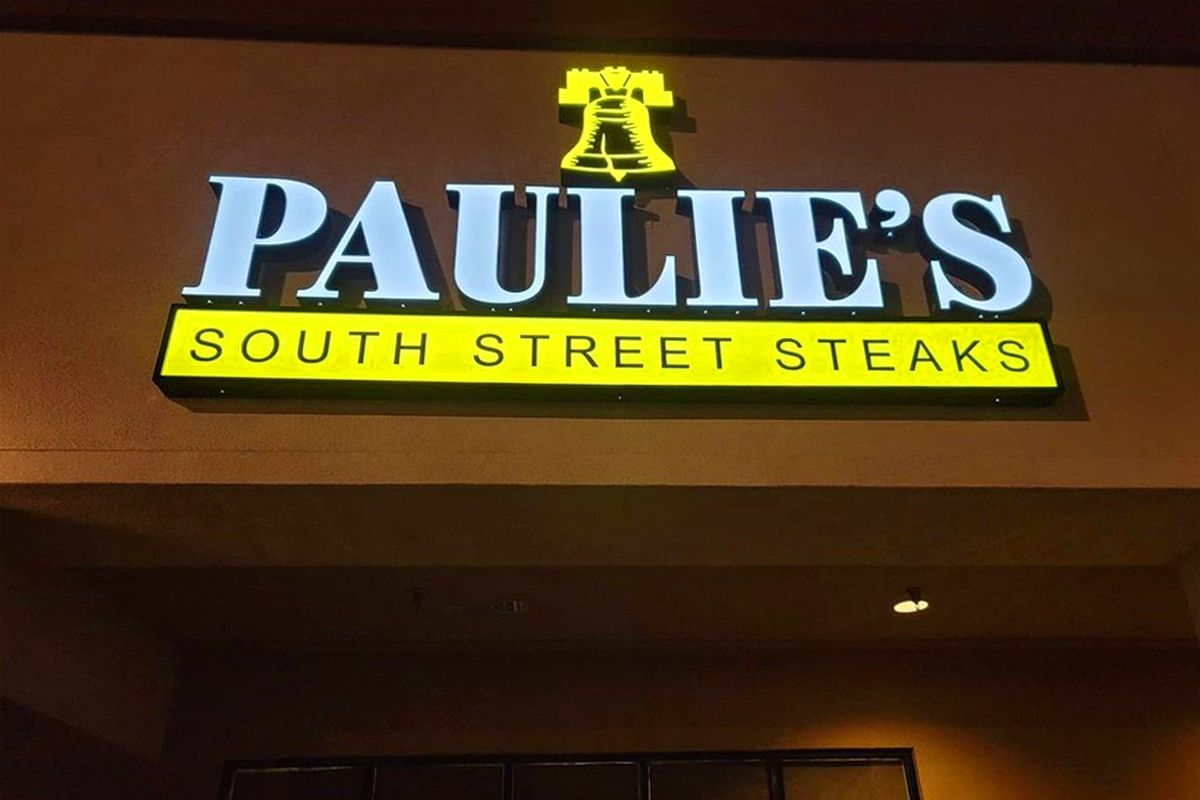 The exterior of Paulie's South Street Steaks, opening soon with sibling concept, Paulie's Sweet Scoops.