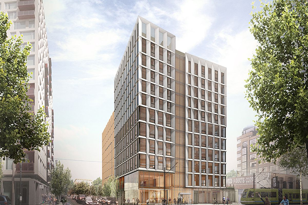 This building design approved for Portland, Oregon, would have been the tallest wooden tower in the country, but the project has now been put on hold due to market challenges.