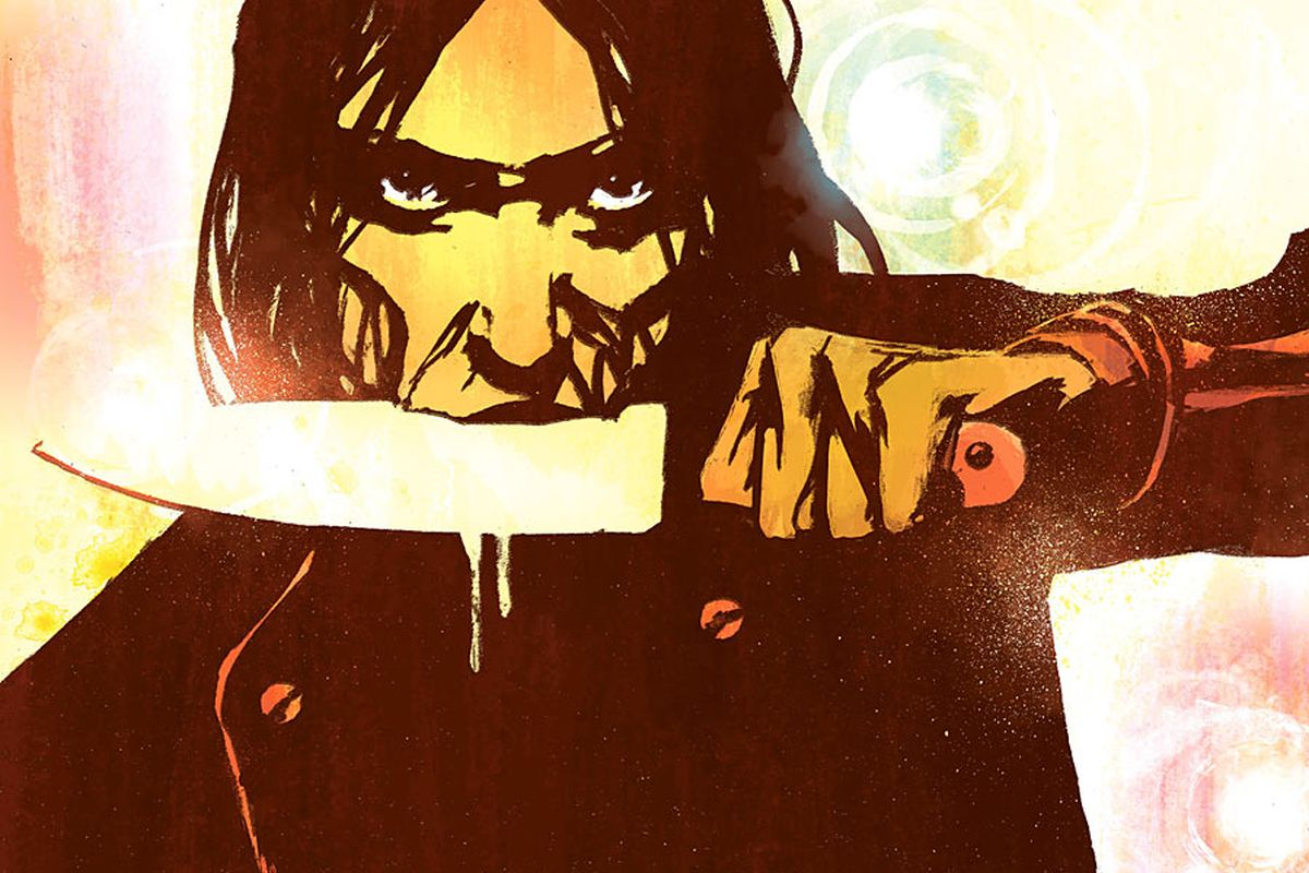 """A close-up of """"Starve"""" Issue One's cover."""