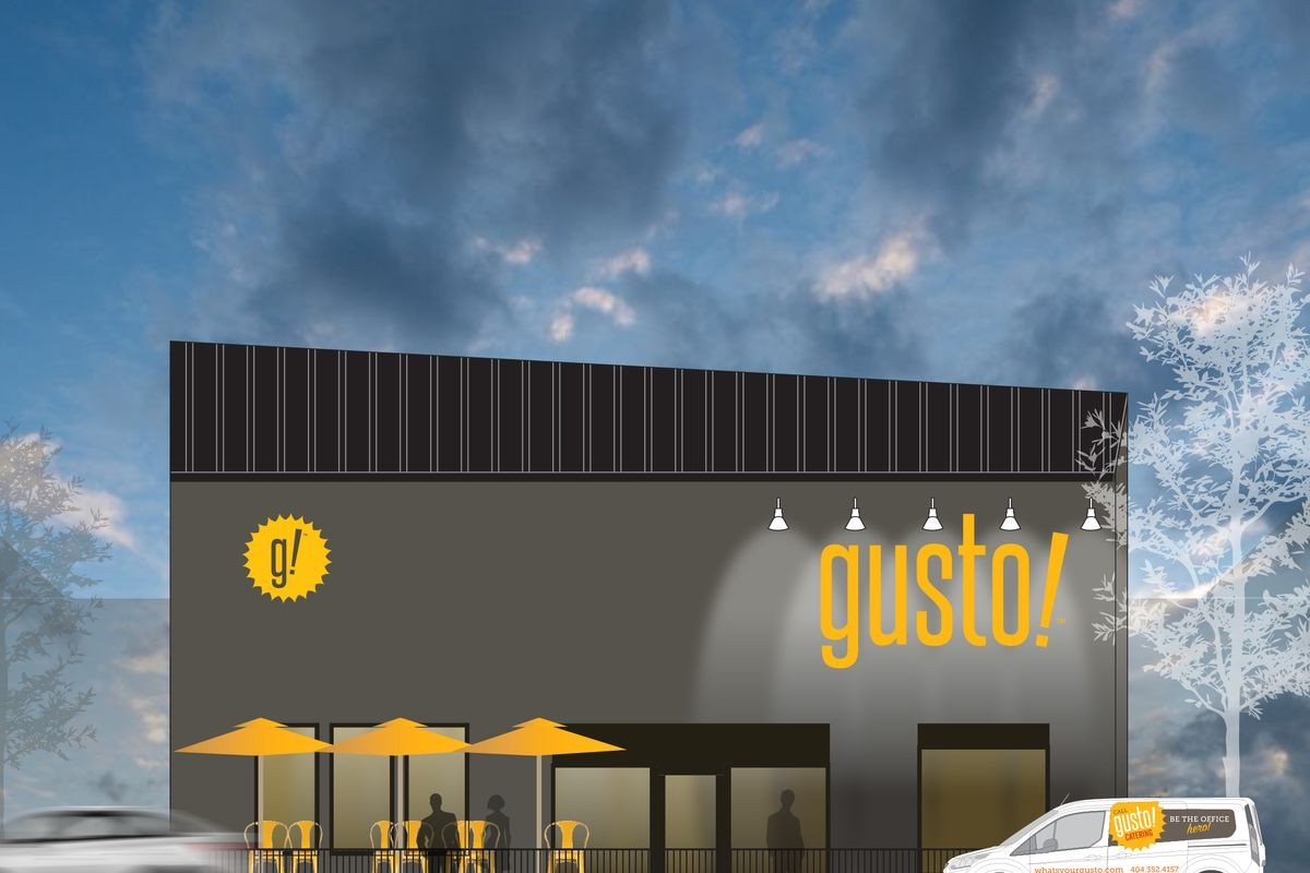A rendering of Gusto's second location.