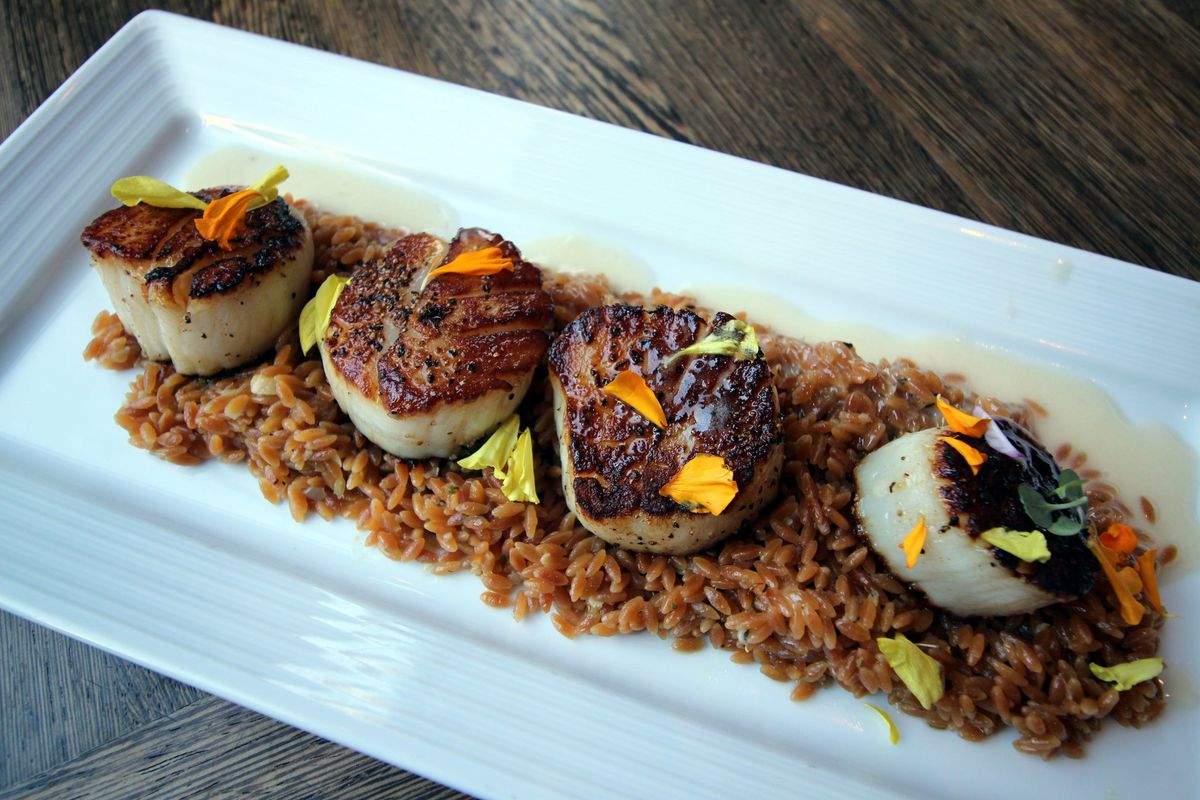 Scallops at Triple George Grill