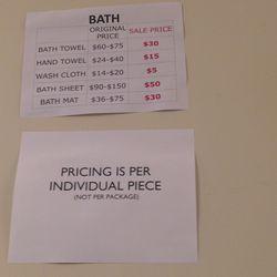 Towel prices