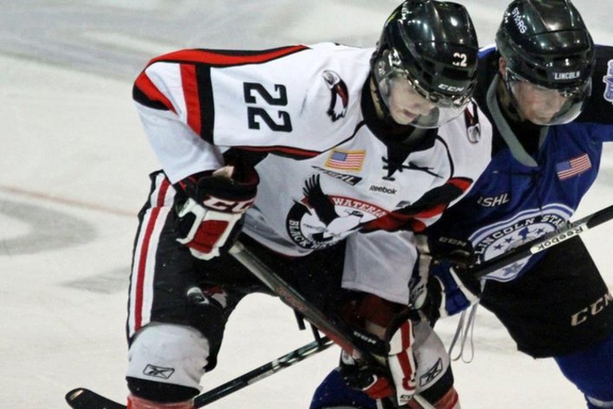 Zach Stepan, last year with the USHL's Waterloo Blackhawks