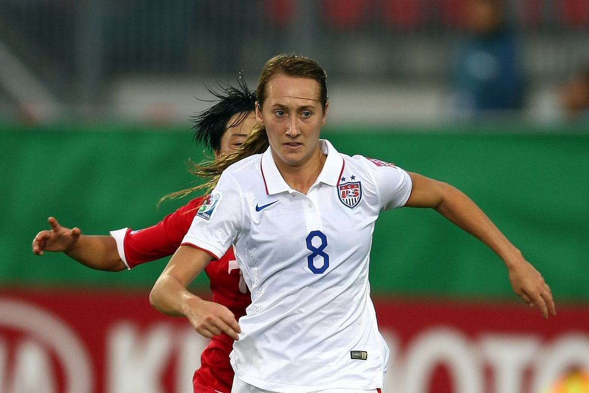 Reign draftee Summer Green versus China at the U20 Women's World Cup