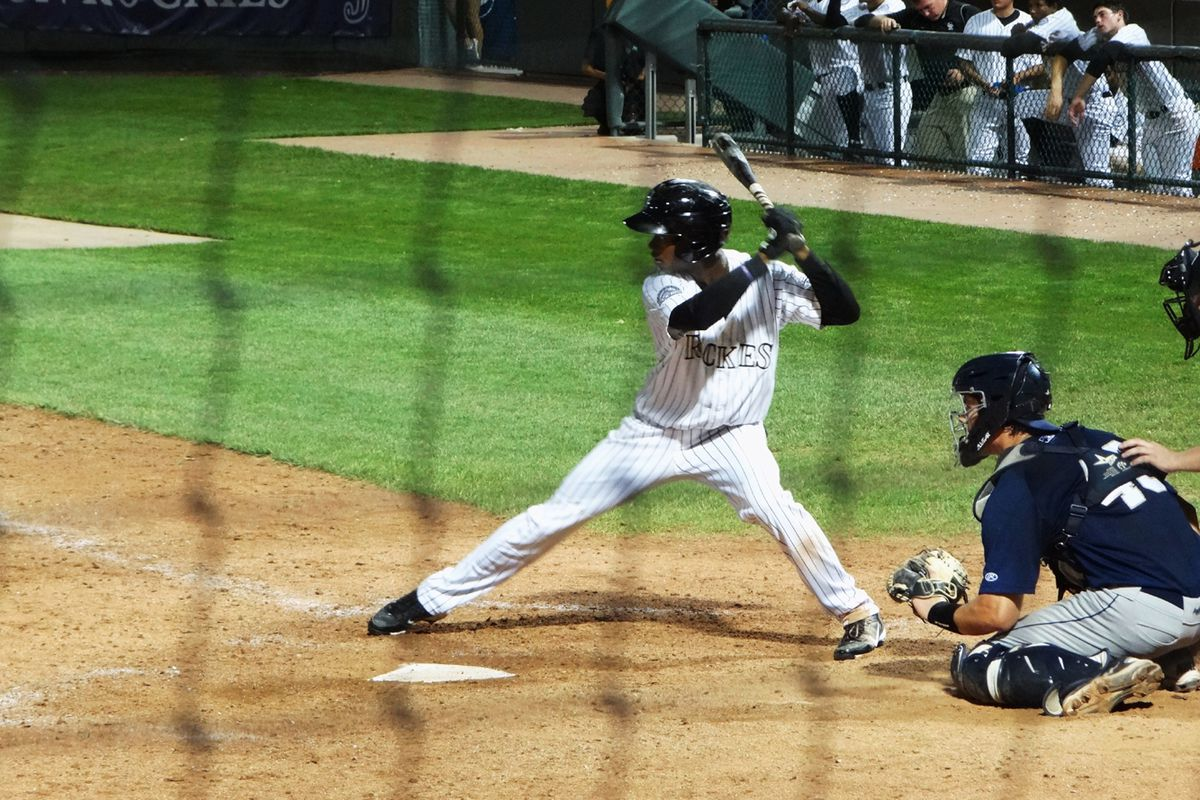 Asheville left fielder Raimel Tapia, seen here playing with Grand Junction, hit a grand slam in the Tourists' 17-6 win.