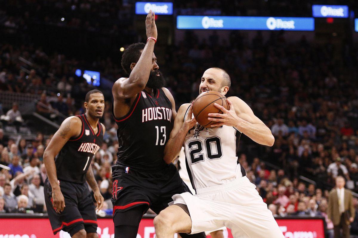 NBA: Playoffs-Houston Rockets at San Antonio Spurs