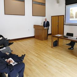 Elder D. Todd Christofferson, of the Quorum of the Twelve Apostles of The Church of Jesus Christ of Latter-day Saints, speaks at Christ Church, Oxford University, in Oxford, England, on Thursday, June 15, 2017.