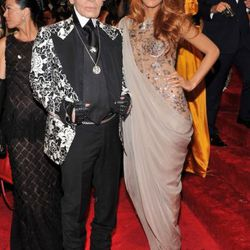 Karl Lagerfeld attends the Alexander McQueen: Savage Beauty Costume Institute Gala at The Metropolitan Museum of Art on May 2, 2011 in New York City.