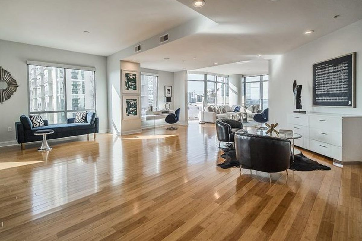 A photo inside a condo for sale at Midtown Atlanta's Luxe tower.