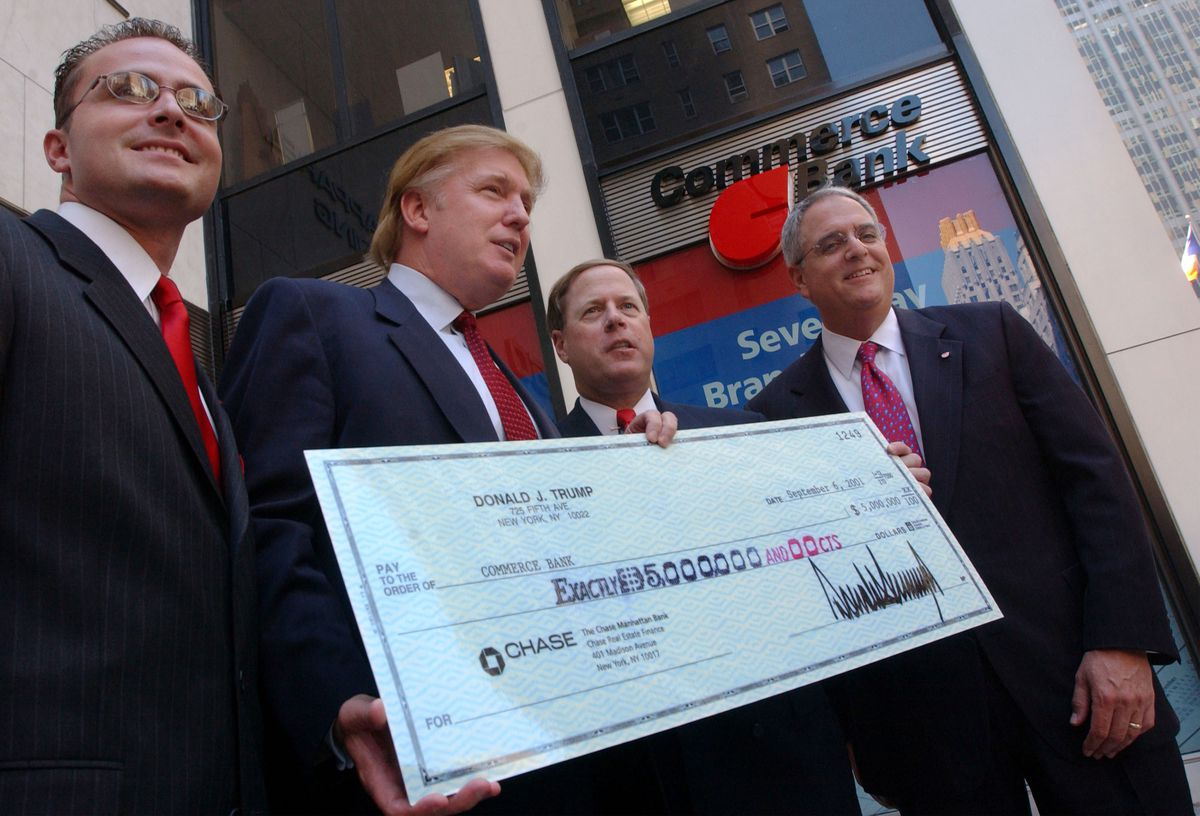Donald Trump Helps Open Commerce Bank Branch in NYC