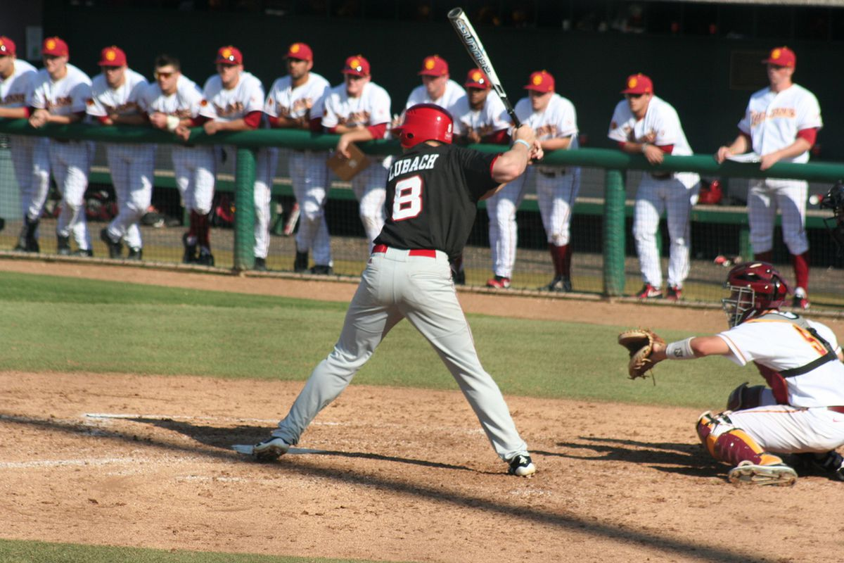 Catcher Tanner Lubach has been a surprise transfer for the Huskers