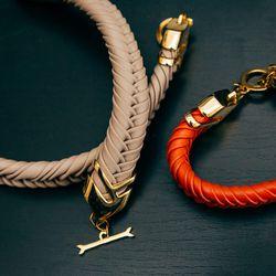 "<a href=""http://www.stanmorenyc.com/keleher-14k-gold-bracelet-greige/"">Keleher 14k gold bracelet</a> in Greige and <a href=""http://www.stanmorenyc.com/keleher-14k-gold-bracelet-persimmon/"">persimmon</a> (both $205)"