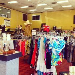 The spacious store was stacked with pre-loved designer items from Escada, Gucci, Pucci, St. John, Chanel, Manolo Blahnik and many more.