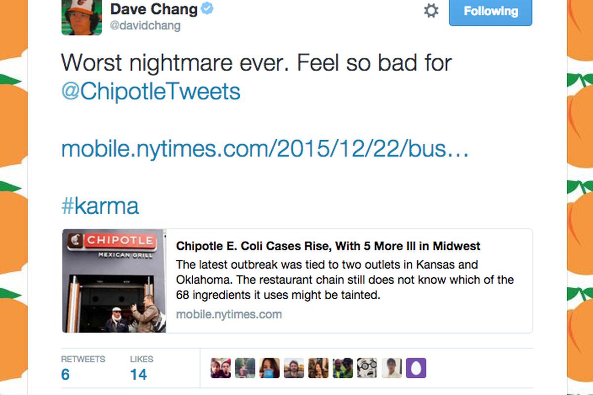 Momofuku\'s David Chang on Chipotle\'s E. Coli Crisis: \'Karma\' - Eater