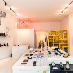 """Across the street from Condor is <b><a href=""""http://www.babelfair.com/"""">Babel Fair</a></b> (260 Elizabeth Street), another little Nolita shop inspired by travel and packed with hard-to-find pieces. Owner Erica Kiang <a href=""""http://ny.racked.com/archives/"""
