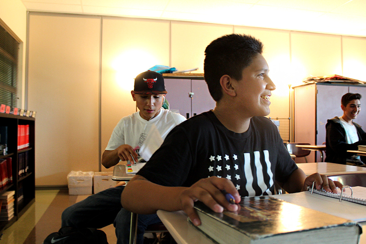 Cuauhtemoc Jesus Sanchez at Skyline High School in Longmont is one of the first Colorado students to be enrolled in a new P-TECH program.