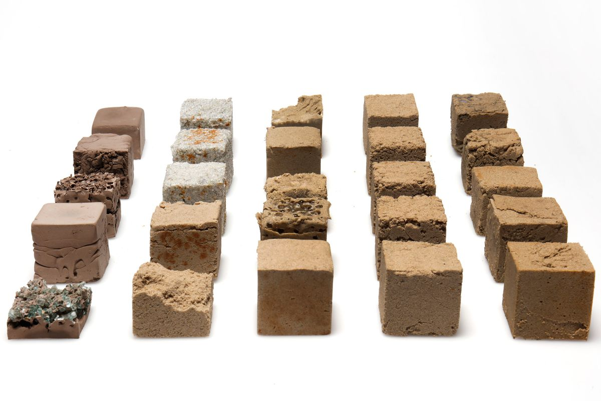 Blocks of concrete made from sand