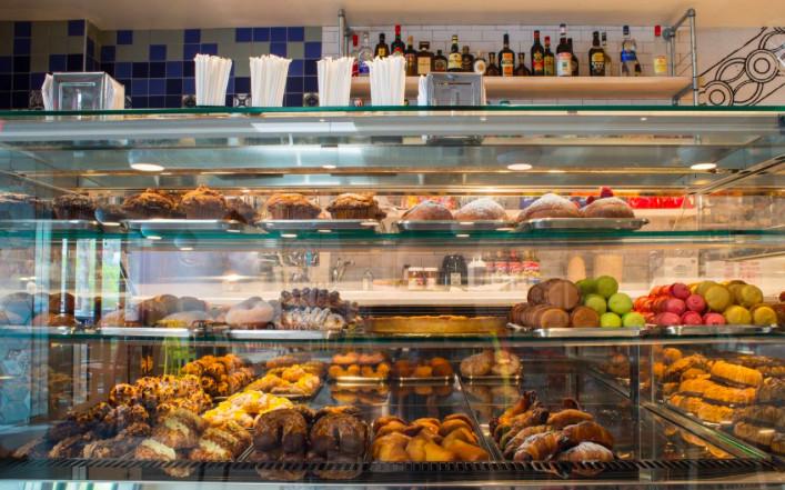 Case of pastries