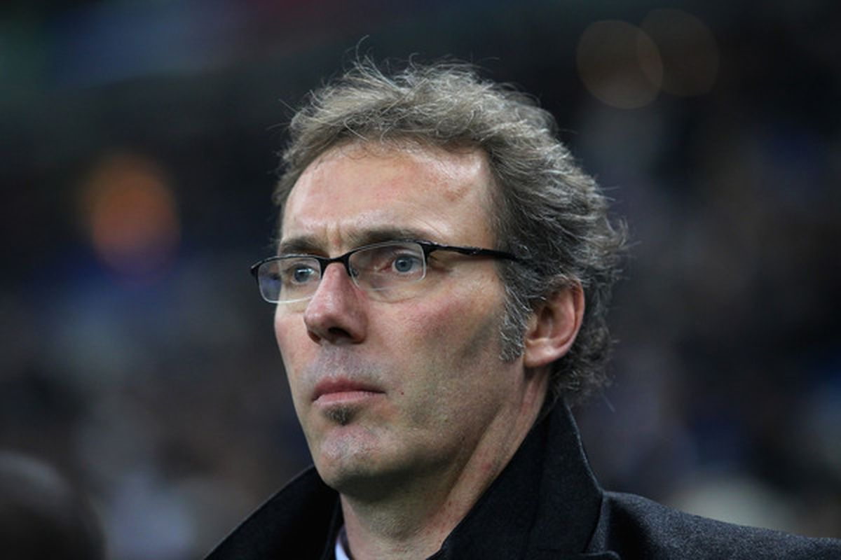 PARIS FRANCE - FEBRUARY 09:  Laurent Blanc the coach of France looks on during the International friendly match between France and Brazil at Stade de France on February 9 2011 in Paris France.  (Photo by Alex Livesey/Getty Images)