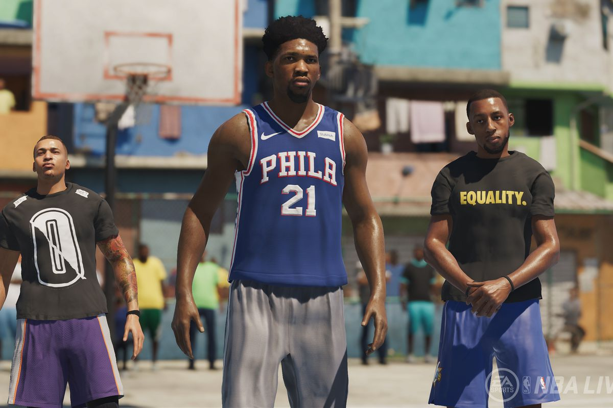 NBA Live 19 - Joel Embiid and squad in The Ones career mode