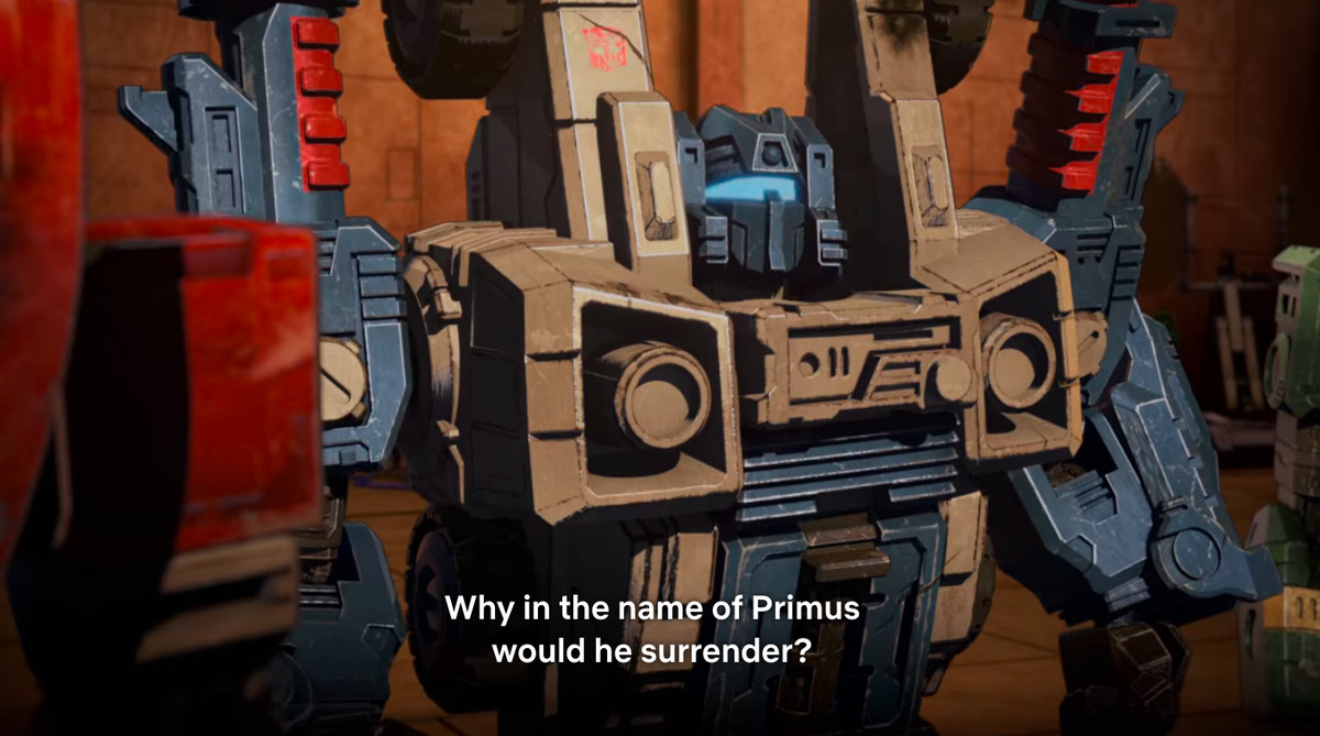 Primus reference in Transformers: War for Cybertron - Siege