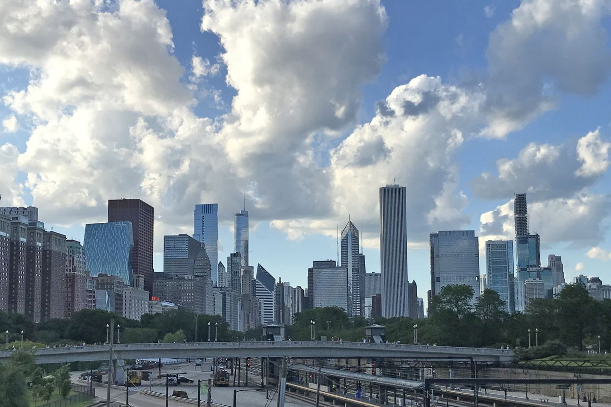 Chicago skyline as seen from Soldier Field.