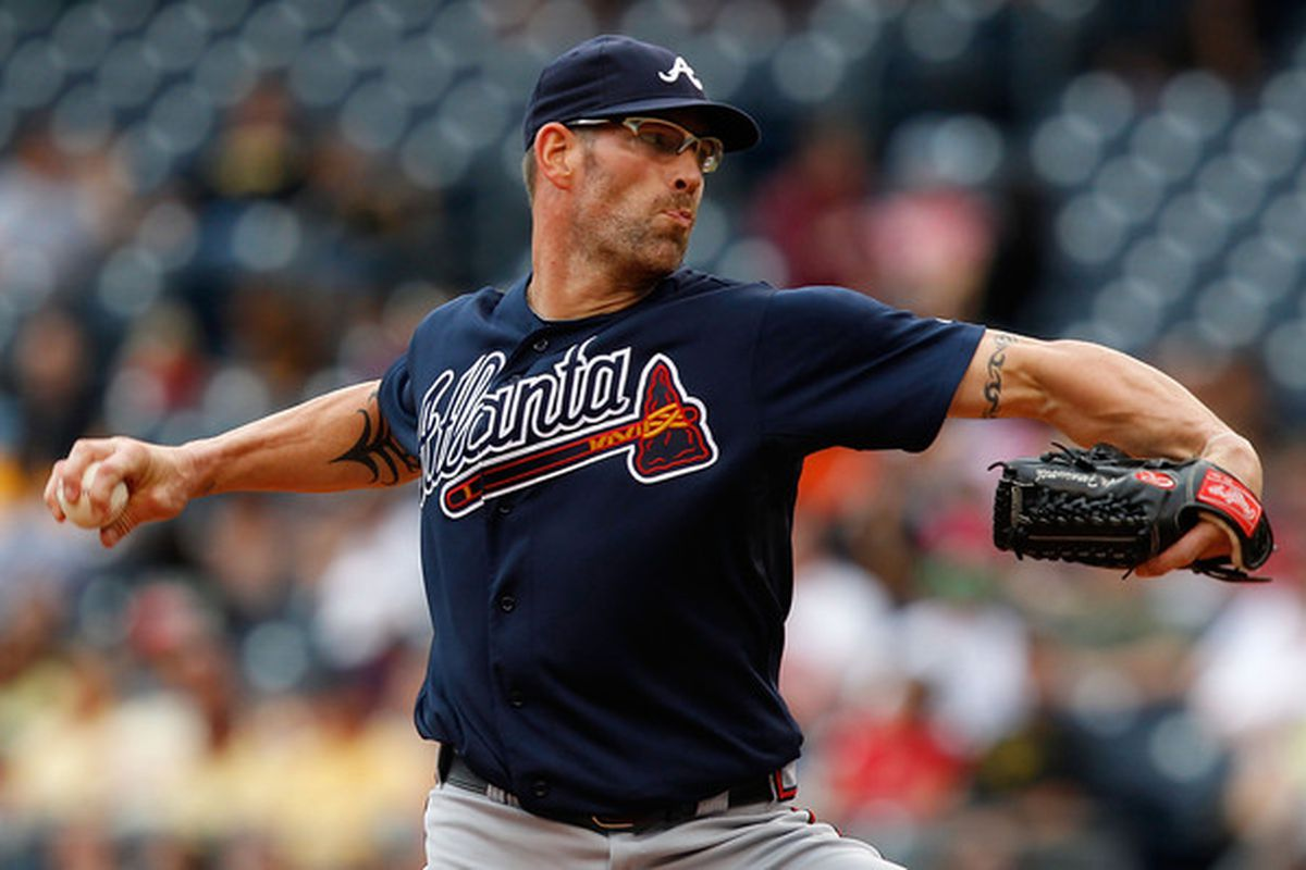 Kyle Farnsworth wasn't much better than the pitcher he replaced, Jesse Chavez. (Photo by Jared Wickerham/Getty Images)