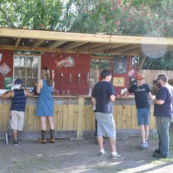 The back bar.