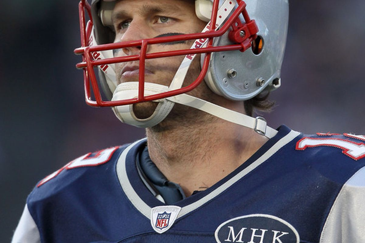 The glorious, Noble Brady in his Natural Habitat.  (Photo by Elsa/Getty Images)
