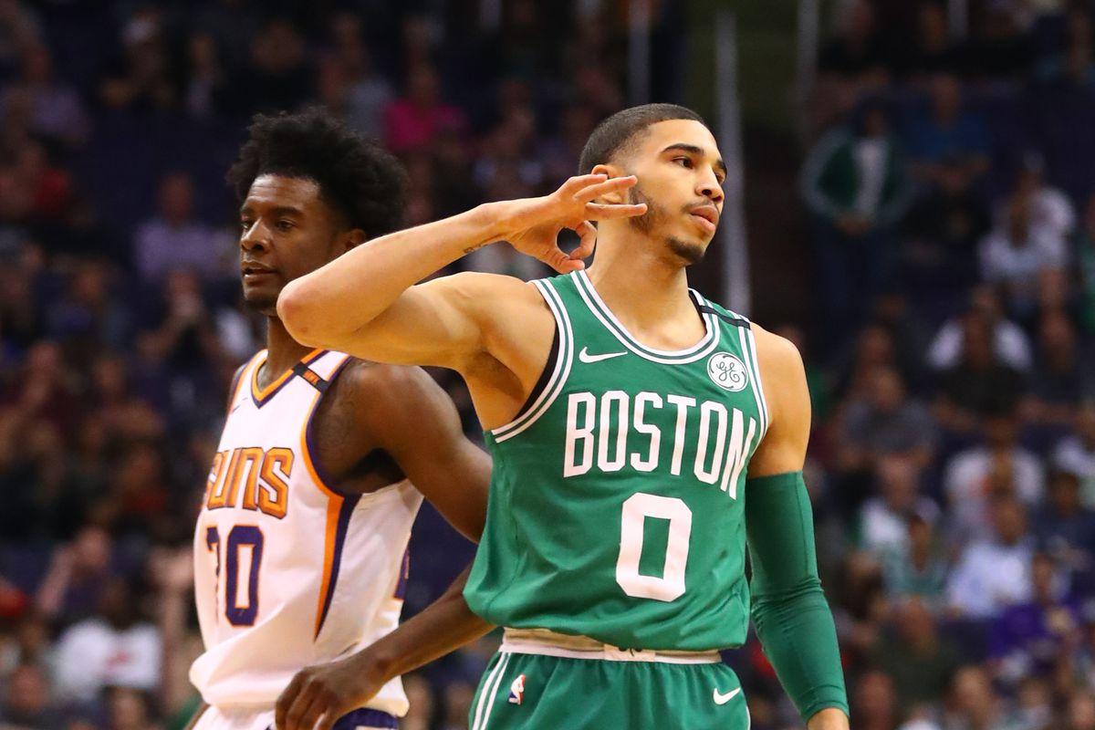 sale retailer a45bd 971df Jayson Tatum and Josh Jackson duel, Celtics beat Suns 102-94 ...