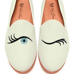 "Del Toro Prince Albert <a href=""http://modaoperandi.com/del-toro/fw-2013/accessories-1445/item/prince-albert-bone-canvas-slipper-loafers-with-winking-eye-embroidery-197090?utm_medium=Linkshare&utm_source=Linkshare&utm_content=QFGLnEolOWg&siteID=QFGLnEolOW"