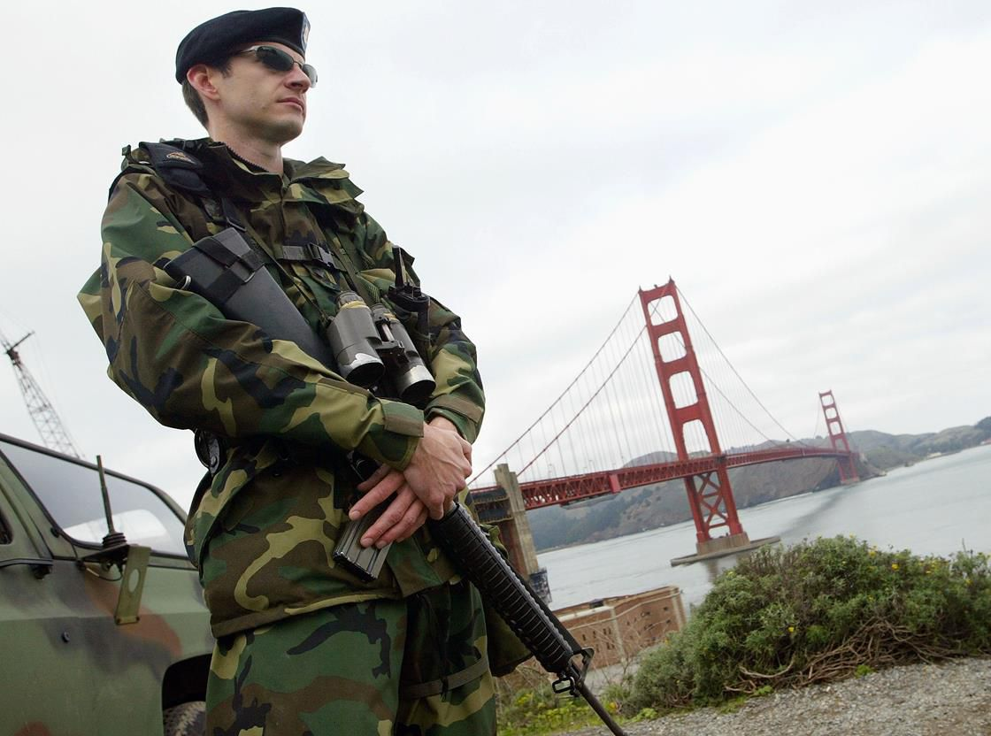 California National Guard soldier