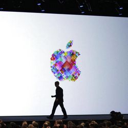 FILE-In this Monday, June 11, 2012, file photo, Apple CEO Tim Cook walks on stage during the Apple Developers Conference in San Francisco. Makers of consumer electronics are refreshing their products for the holiday shopping season. Apple's rivals are hoping that a head start on the buzz will translate into stronger sales. Nokia and Microsoft, in particular, are trying to generate interest in a new Windows operating system out next month.