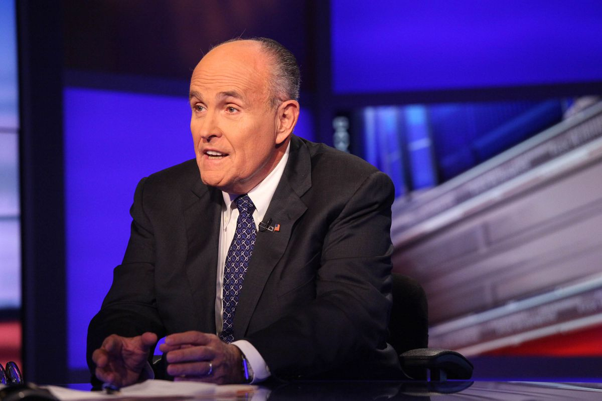 NEW YORK, NY - SEPTEMBER 23:  Rudy Giuliani visits 'Cavuto' On FOX Business Network at FOX Studios on September 23, 2014 in New York City.  (Photo by Rob Kim/Getty Images)