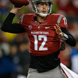 Connor Halliday initially delivered the ball with confidence
