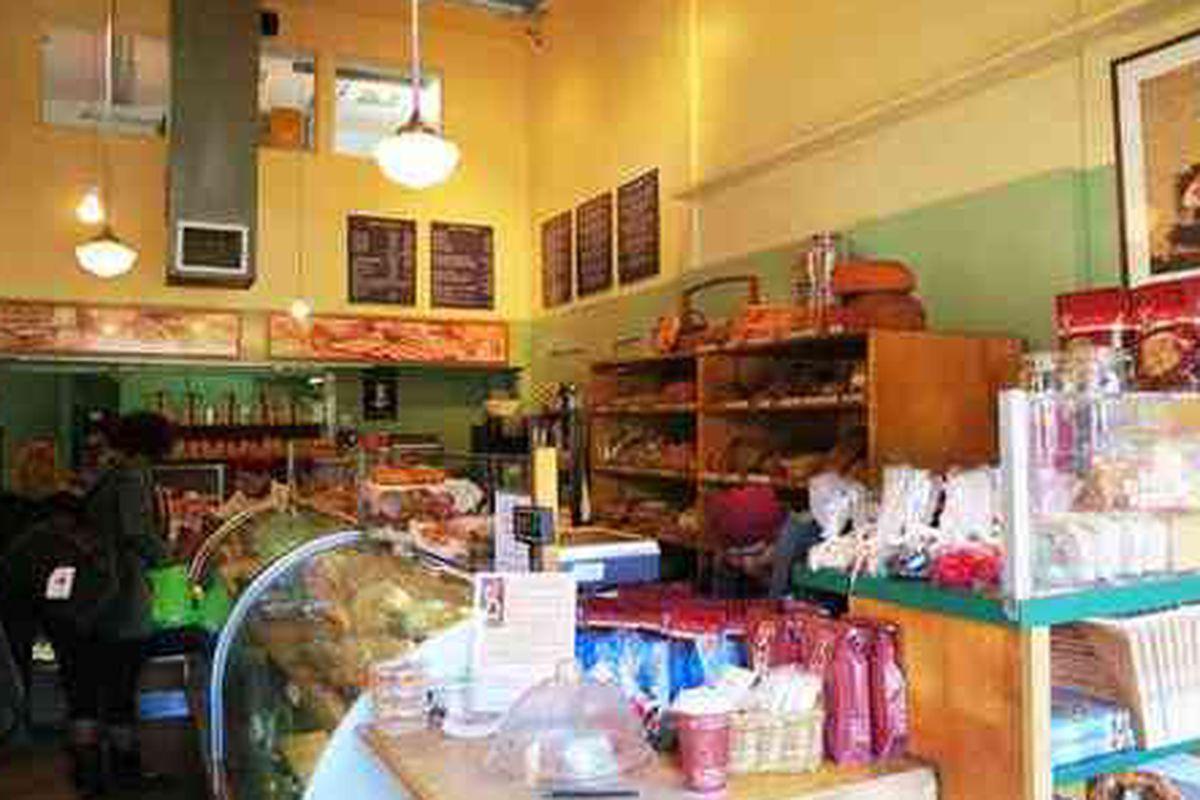 Inside the original La Brea Bakery.