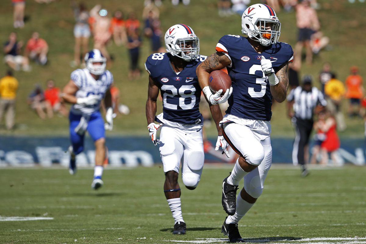 NCAA Football: Duke at Virginia