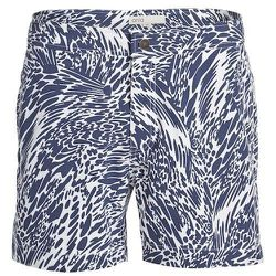 """<strong>Onia</strong> Calder Swim Trunks in Navy Wave, <a href=""""http://www.barneys.com/on/demandware.store/Sites-BNY-Site/default/Product-Show?pid=503377310&cgid=mens-swim&index=5"""">$160</a> at Barney's"""