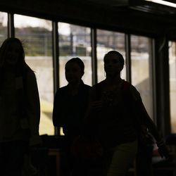 Utah Valley University students walk through the Sorensen Student Center on campus in Orem, Wednesday, Jan. 21, 2015.
