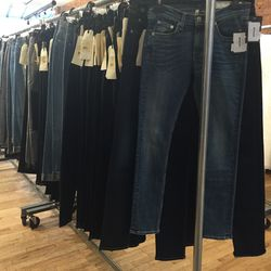 Just some of the denim selection