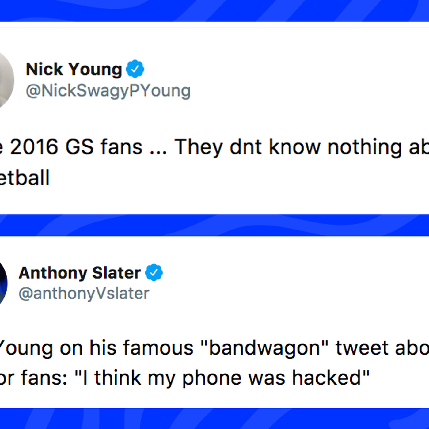 Nick Youngs Tweets Making Fun Of Warriors Fans Resurface After