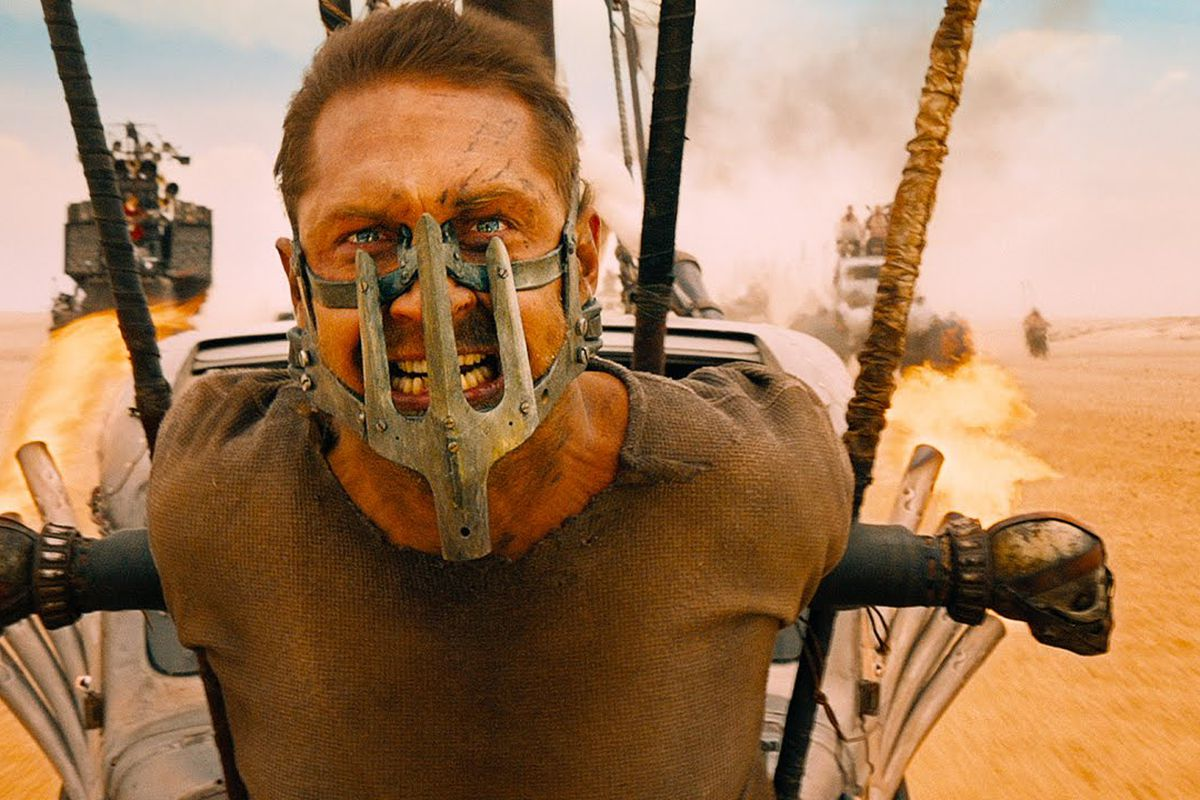 """""""Mad"""" Max (Tom Hardy) gearing up to crush the Oscars."""
