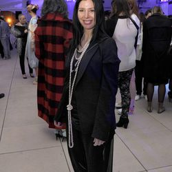 """Kristin Mariani, SAIC Profesor and designer of Red Shift in Comme des Garçons with a bit of Margiela. """"Animal"""""""