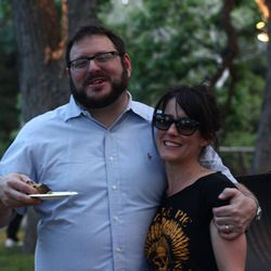 Josh Ozersky and Naomi Pomeroy of Beast celebrate Texas beef.