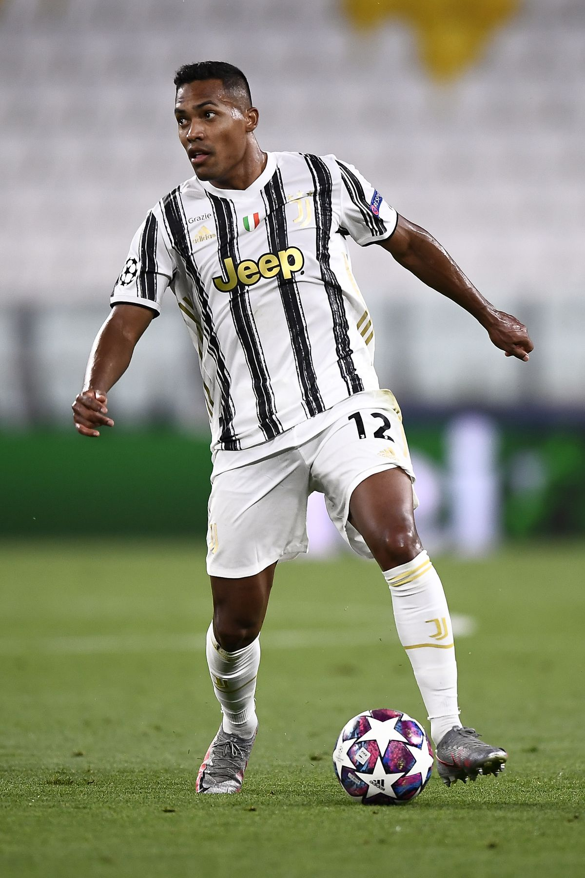 Alex Sandro of Juventus FC in action during the UEFA...