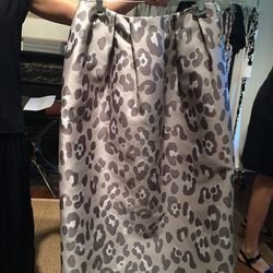 Leopard jaquard skirt, $295
