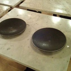 The plates are from Heath Ceramics out of San Francisco